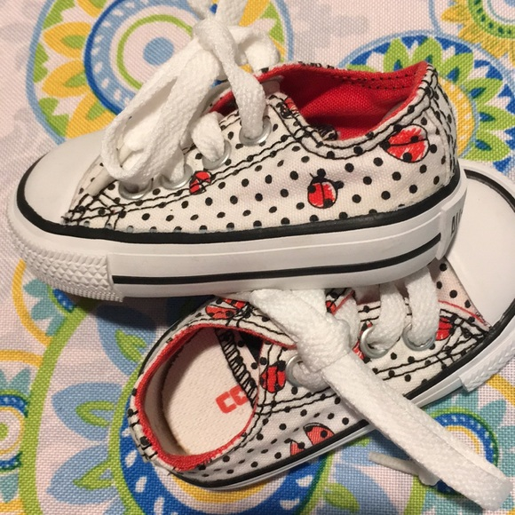 2ca3106ac9a0 New Ladybug Baby Converse Shoes